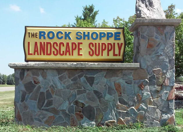 road side sign of Rock Shoppe